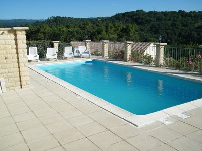 Photo for Holiday home with swimming pool on the Escafoulin domain