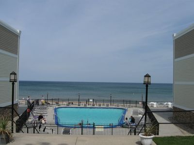 Photo for A Studio Beachfront Condo with a Pool!!  Sleeps 3