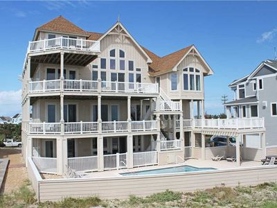 Photo for OCEANFRONT in Hatteras w/Htd Pool&HotTub, Elevator