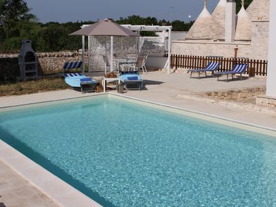 Photo for Stunning Trullo with all modern comforts + pool. Great location.