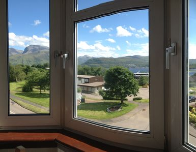 Amazing view of Ben Nevis from the dining table