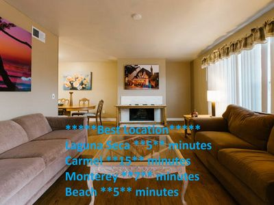 Photo for Monterey style sunny home king sized bed  in every Bedroom beautiful