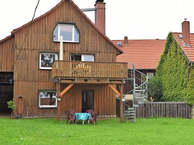 Photo for Cosy ground floor flat in the eastern Harz region with wood stove and private terrace