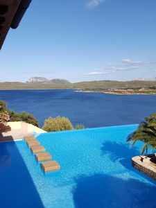 Photo for Beautiful apt-sea view villa with private garden and swimming pool of the resort