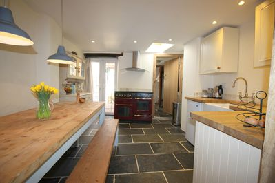 Well equipped light, bright kitchen/diner with Rangemaster cooker)