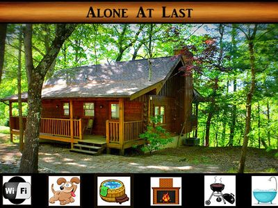 Photo for Alone at Last} Jacuzzi and Hot tub, Pet Friendly, wifi, close to Pigeon Forge