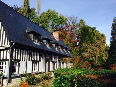 Photo for Near Honfleur / Deauville, an authentic half-timbered Normandy house