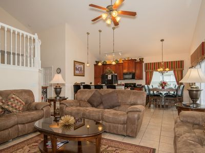 Photo for Huge home minutes to Disney World, air conditioned games room, private pool/Spa