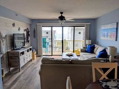 Photo for 2BR 2BA Condo with ocean views, and a pool. Beach access across the street.