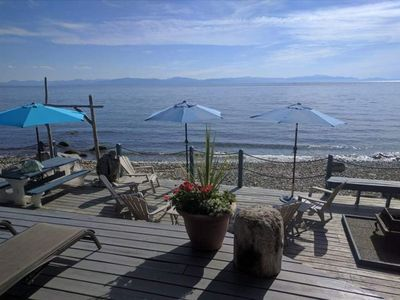 Photo for West Coast Cottage on Private Waterfront, Ocean View Hot Tub, Central Location