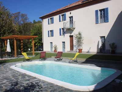 Photo for Newly Restored Traditional 19thc luxury farmhouse with pool. Suit large groups.