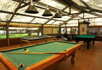 Resort Game Room with billiards, ping pong, poker table and exercise equipment!