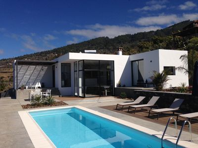 Photo for New: Modern villa with 180 ° sea view and saltwater pool