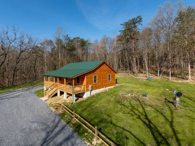 Photo for Brand New Cabin, Romantic, Private,Adjacent to George Washington National Forest