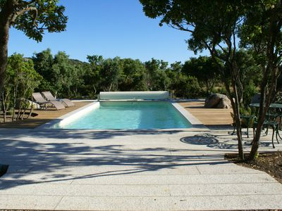 Photo for High quality 4 * cottage with swimming pool, sea, air conditioning, internet, in maqui
