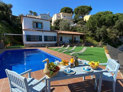 Photo for Villa Inge with pool and sea views