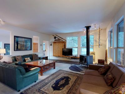 Photo for Cozy mountain home w/ two decks & woodland views - close to skiing & the lake!