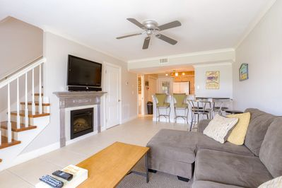 Newly remodeled town home with electric fireplace and 3 flat screen TV's.