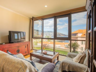 Photo for Spacious Funchal Amazing Sea View apartment in Funchal with WiFi, shared terrace, shared garden & l…