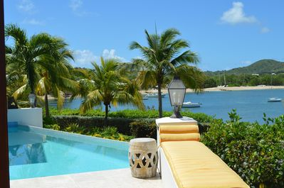 Views of the pool with Chenay Bay Beach in the background