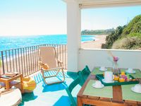 Lovely veranda and well-cared for apartment.