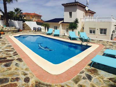Photo for Fantastic 4 bed villa, sleeping 10-12, private pool, 1000m2 plot, amazing views.