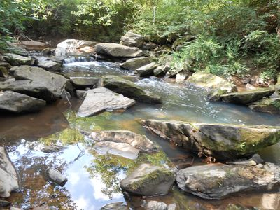 """Photo for STONE CREEK LODGE ON 500 """" OF RUSHING SOPE'S CREEK"""