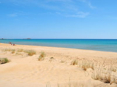 Photo for Terraced 30 m. from the sea on the beautiful and unspoiled beach of Carratois