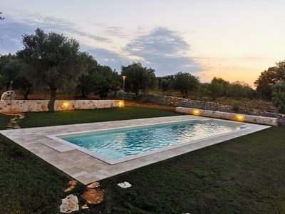 Photo for Comfortable villa with garden and private parking space in the greenery near Monopoli