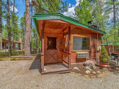 Photo for Relax in Cozy Comfort!  Cabin for 2 w/ King Bed
