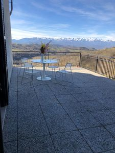 Photo for Fantastic 2 room terrace apartment with a view of the Piedmont vineyards