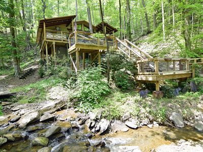 Photo for Location! Location! 2 Bedrooms / 2 Bathrooms, Hot Tub, 5 Decks, Level Parking