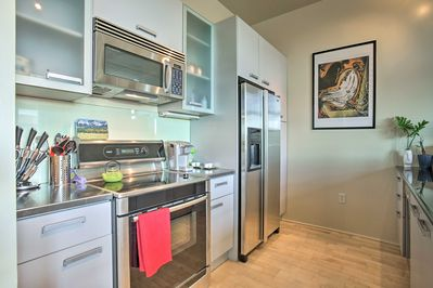 The vacation rental features all of the comforts of home!