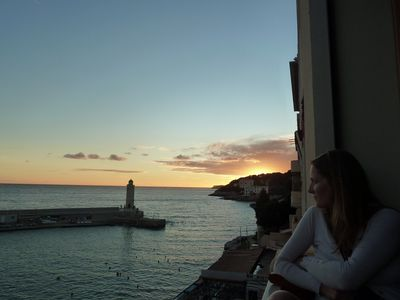 Photo for Seafront apartment with exceptional views  Private parking 5 minutes too beach.