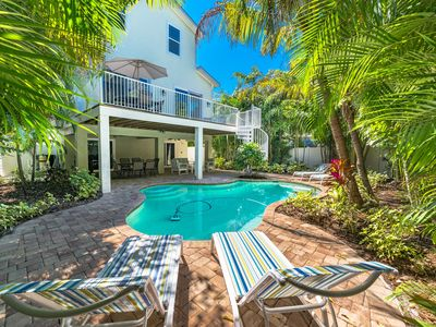 Photo for Island Time:Great Gulf Views, 3 Houses to Beach, Tropical Heated Pool, Ping-Pong