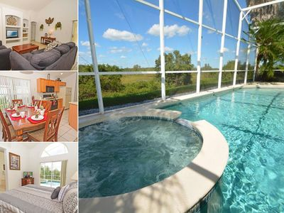 Photo for Comfortable Pool Home Overlooking Lake & Conservation Close to Parks