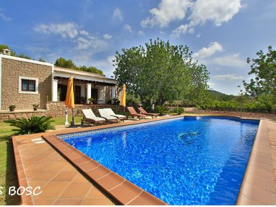 Photo for Typical Ibiza newly built house with pool in quiet area