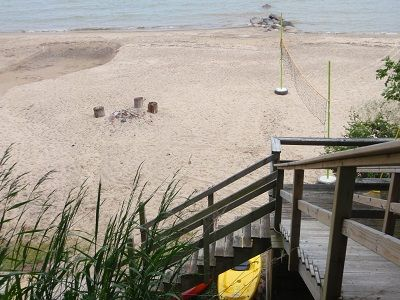 Photo for Sandy Beach*Spacious*Eco-Friendly*1920's Era Lakefront home and guest house*
