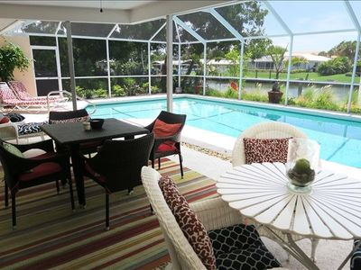 Photo for Living the dream on Dream Island - 3 BR / 2 BA Canal Front pool home -- Sleeps 6