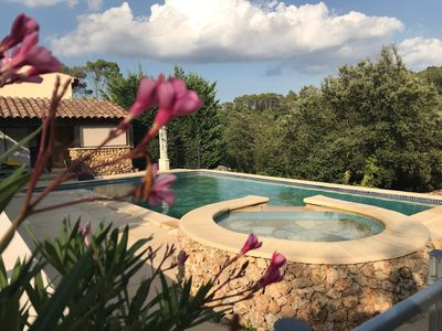 Photo for Villa sleeps 6 and outbuilding sleeps 2, beautiful pool, open view