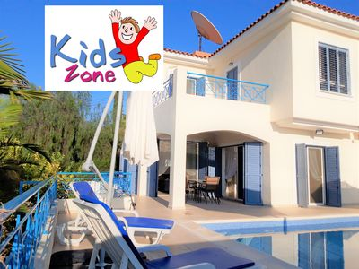 "Photo for ""FUN IN THE SUN"" Villa, Sea & Mountain Views with Large Pool & BBQ"