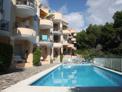 Photo for Burriana beach, 50m2. 1 bedroom apartment with pool - 7 minute walk from beach.