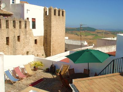 Photo for Traditional apartment w/  2 terraces in the heart of an Andalusian white village