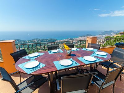 Photo for Club Villamar - Villa with fantastic panoramic view over the coastline of the Costa Brava and the...