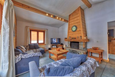 Chalet les Houches living room