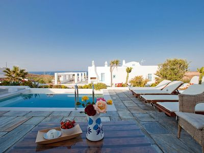 Photo for Villa Skiron, with private pool and sea view, 2 bedrooms, it can host up to 6 people.