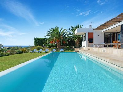Photo for Villa Rosemary - detached villa with panoramic sea views -Pool, Wi-Fi, AC & more