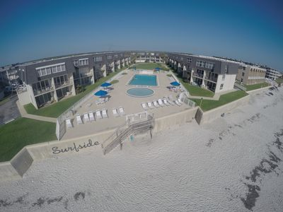 Photo for SurfSide Charm, Budget Friendly Condo, No-Drive Beach, Families Welcome!