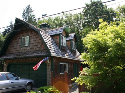 Photo for A River Runs Through It #3 Cozy waterfront studio apt overlooking Sol Duc River