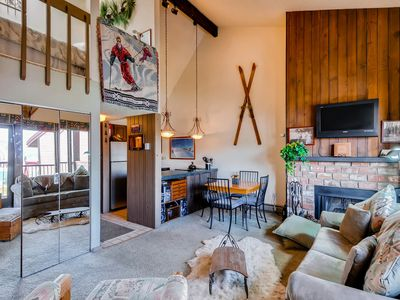 Photo for Mountain view condo w/ loft - near skiing and town!